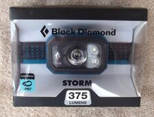 Black Diamond Storm Headlamp 375 Lumens Azul / Blue ~ Brand New ~
