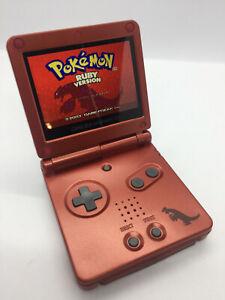 Pokemon Groudon Nintendo Game Boy Advance SP IPS Backlight Screen Lipo Battery