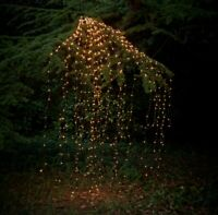 Outdoor LED Solar Lights String Waterfall Fairy icicle Lights Party Garden Decor