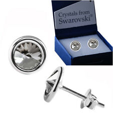 Sterling Silver Stud Earrings *Silver Shade* Genuine Crystals from Swarovski®