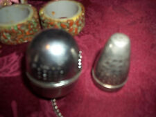 made in Germany  2 tea dippers silver for loose tea vintage good shape