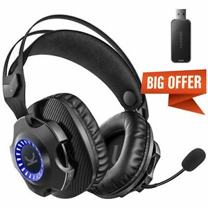 VANKYO 2.4GHz Wireless Gaming Headset Headphones for PS5 PS4 PC Nintendo Switch