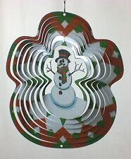 """Windy Garden Laser Cut Snowman Windspinner With Ball Bearing Spinner 10.5"""""""