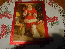 LOT OF 6 SANTA CHRISTMAS CARDS