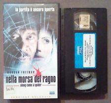 VHS FILM Ita Thriller NELLA MORSA DEL RAGNO morgan freeman ex nolo no dvd(VH41)