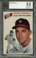 1954 topps #119 JIM ANTONELLI new york giants BGS BVG 5.5