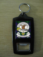 DAVIDSON CLAN BOTTLE OPENER KEY RING (IMAGE DISTORTED TO PREVENT WEB THEFT)