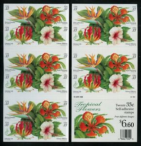 US Scott 3313b Tropical Flowers Booklet