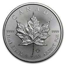 2017 Canadian 1 Oz Silver Maple leaf coin with Micro Engraved Security Feature