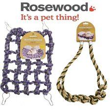 Rosewood Hanging Boredom Breaker Rope Bridge Cargo Net - Rat Fun Climbing Toy