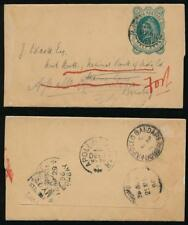 INDIA QV STATIONERY NEWSPAPER WRAPPER APOLLO BANDAR REDIRECTED 1896
