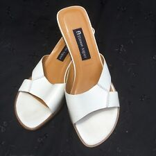 Etienne Aigner Womens Sandals Size 8M Slides Sagan White Leather Hardy
