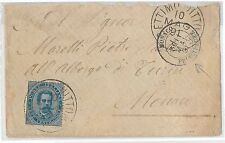 54828 - REGNO: UMBERTO I - STORIA POSTALE :  BUSTA a MONACO 18913 - 25 Cent.