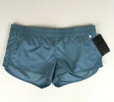 Hurley Womens Athletic Shorts Size XL Blue Running Cross Training Gym NWT