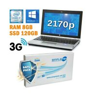 "COMPUTER NOTEBOOK HP ELITEBOOK 2170P I7 3667U 11,6"" RAM 8GB SSD 120GB WIN 10 PRO"