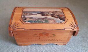 Wooden Keepsake Collectors 13 x 8.5 x 6 cms marked Kristiansand