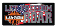Harley-Davidson Freedom Roar B&S Embossed Tin Sign, 18 x 8 inches 2010791
