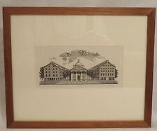 Framed Print Faneuil Hall Market Boston Randy Miller Signed Numbered Woodblock