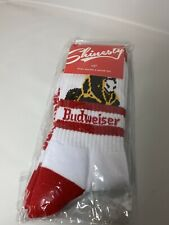 Budweiser Clydesdale Horse King of Beers Shinesty 9-11 Thick Crew Socks