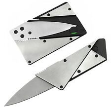 Delicate Steel Outdoor Camping Credit Card Thin Cardsharp Folding Pocket Knife