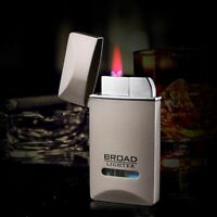 Windproof Metal Ultra-thin Lighter Turbo Long Stripe Straight Welding Cigarettes