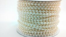 4mm Ivory Spool of Pearls Faux Round Beads Garland String Roll~100 FEET (30.4M)
