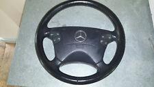 Mercedes E320 E430 CLK320 CLK430 Black leather Steering Wheel airbag 00-02 W210