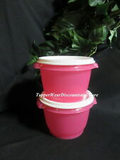 Tupperware ~ New Servalier Bowls Set of 2~20 oz Ounce ~ Pink White Seals