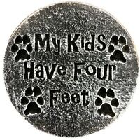 """Plastic dog cat plaque mold garden ornament stepping stone 7.75"""" x 3/4"""" thick"""