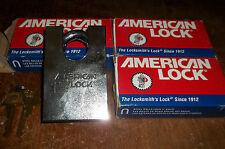 3 KEYED ALIKE      AMERICAN PADLOCK   #A748NKA   REKEYABLE  HEAVY DUTY