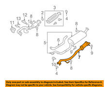 MAZDA OEM 00-01 MPV 2.5L-V6 Exhaust-Rear Pipe GY01403A0C