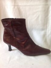Clarks Maroon Ankle Leather Boots Size 8