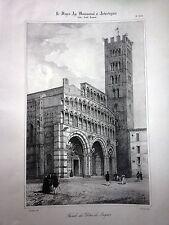 LUCCA,FACCIATA DEL DUOMO, Lemercier 1841,TOSCANA