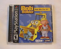 Bob the Builder (Sony PlayStation 1, 2001) PS1 Black Label Complete Nice!