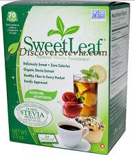 Sweet Leaf Natural Stevia Sweetener 70 Packets 2.5 oz SweetLeaf Extract #4638