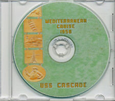 USS Cascade AD 16 CRUISE BOOK Log MED 1958 CD