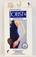 New In Box JOBST RTW Armsleeve 20-30mmHg Brown Small #101337