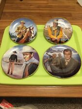 John Wayne Limited Edition Plates Lot of 4 Franklin Mint & Republic Pictures