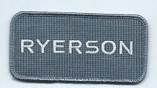 Ryerson employee driver patch 2 X 4
