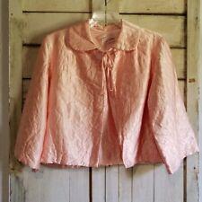 Vintage 60's Pink Satin Bed Jacket Large
