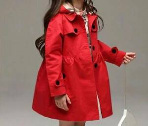 Toddler Kids Baby Girls Trench Coat Autumn Outerwear Clothes FREE UK SHIPPING