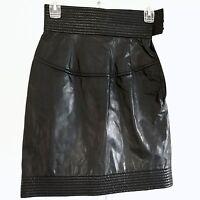 FENDI Black Leather Skirt New Without Tags EU Size 34/US Size 0