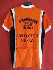 Maillot cycliste BEZIERS Richardson Velo Club Nissan Vintage Ancien 70'S - 4 / L