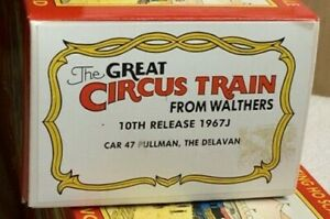 CIRCUS HO SCALE WALTHERS PASSENGER CARS 10th RELEASE 1967J