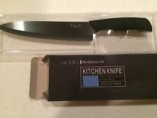 Black Tsuki 8 inch Ceramic Knife Clean BPA Free Ultra Light Great Gift 11