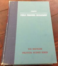 Public Personnel Management By Williams G. Torpey - HC 1953