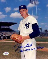 Jim Coates autographed signed inscribed 8x10 photo MLB New York Yankees PSA COA