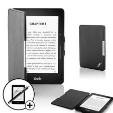 Black Smart Shell Case Cover Sleeve Amazon Kindle Voyage with Stylus Screen Prot