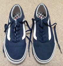 WOMEN'S VANS OLD SKOOL BLUE TRAINERS - SIZE 5 UK (BRILLIANT CONDITION)