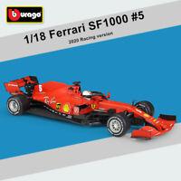 Bburago 1:18 2020 Ferrari F1 Racing SF1000 #5 Sebastian Vettel Diecast Model Car